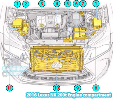 [DIAGRAM_4PO]  2016 Lexus NX 200t Engine compartment Parts Diagram | Lexus Engine Cooling Diagram |  | Engine Parts Diagram