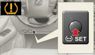 lexus tpms reset button