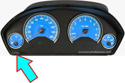 reset oil service light with cluster button on bmw
