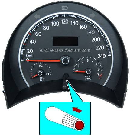 reset oil service light on vw with trip button